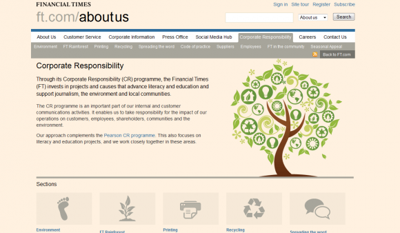 Screengrab of FT.com CR section