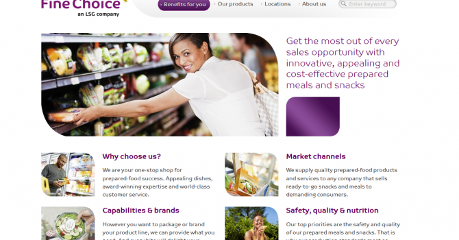Fine Choice website