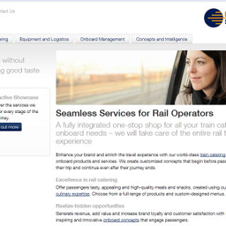 LSG Sky Chefs train services website screengrab
