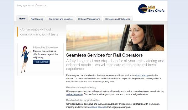 LSG Sky Chefs train services website screengrab