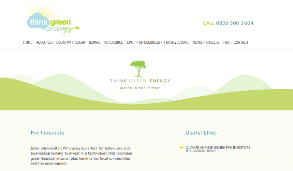 Think Green Energy website screengrab