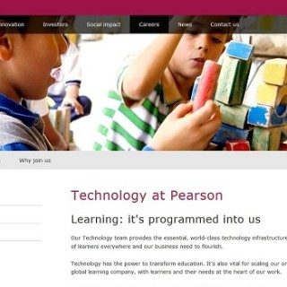 Sample text for technology career opportunities at Pearson.